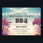 """Summer Birthday BBQ Party Palm Tree String Lights Invitation<br><div class=""""desc"""">================= ABOUT THIS DESIGN ================= Summer Birthday BBQ Party Palm Tree String Lights Invitation Suite. (1) All text style, colors, sizes can be modified to fit your needs. (2) If you need any customization or matching items, please feel free to contact me. (In case you didn't get my response, please...</div>"""