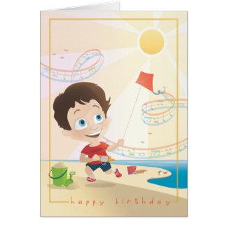 Summer Birthday Greeting. 2/12. Stationery Note Card