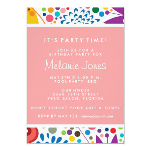 Sweet Sixteen Birthday Pool Party Invitations Announcements Zazzle