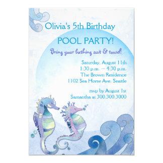 Summer Birthday Pool Party Invitations
