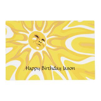 Summer Birthday Sunshine Sun Sunny Placemat
