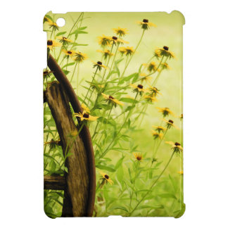 Summer Black-Eyed Susan and Wagon Wheel Photo iPad Mini Covers