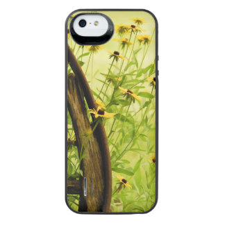 Summer Black-Eyed Susan and Wagon Wheel Photo Uncommon Power Gallery™ iPhone 5 Battery Case