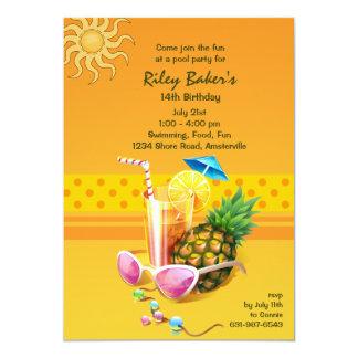 """Summer Bliss Invitation 5"""" X 7"""" Invitation Card"""