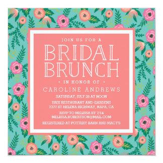 Summer Blooms Bridal Brunch Invitation