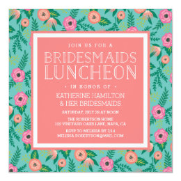 Summer Blooms Bridesmaids Luncheon Invitation