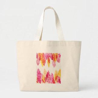 Summer Blooms - Floral Snapdragons - Pink, Orange Large Tote Bag