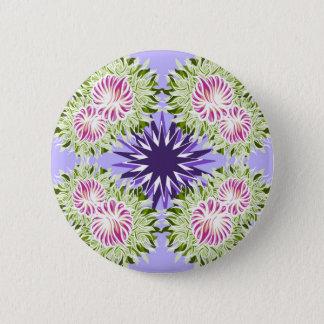 Summer blossom pinback button