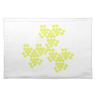 summer blossom - spread - yellow cloth placemat