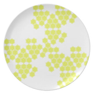 summer blossom- spread - yellow plate