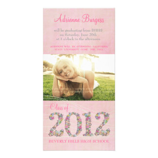 Summer Blossoms Class of 2012 Graduation PhotoCard Card