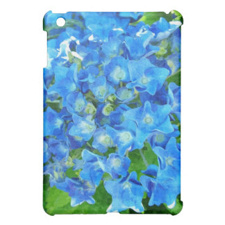 summer blue hydrangea flowers and its green leaves iPad mini cases