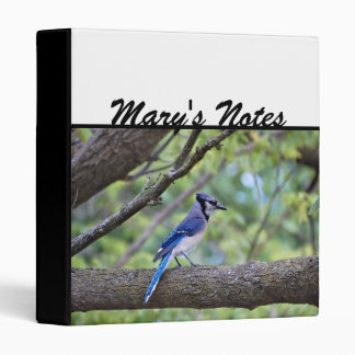 Summer Blue Jay 3 Ring Binder