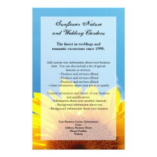 Summer Blue Sky with Yellow Sunflower Flyer Design