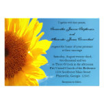 Summer Blue Sky with Yellow Sunflower Personalized Invitations