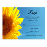 Summer Blue Sky with Yellow Sunflower RSVP Reply Post Card
