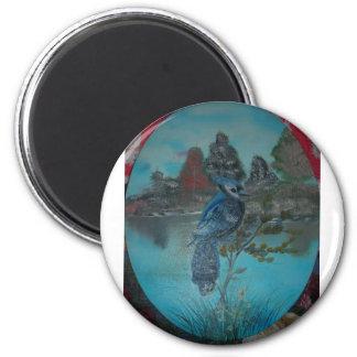 summer bluejay fridge magnets