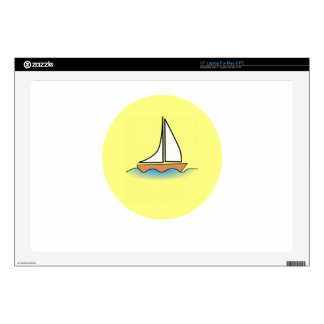 "summer boat boating sport fish fishing water wave 17"" laptop decal"