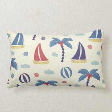Summer Boats II Lumbar Pillow