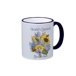 Summer Bouquet - Godmother Ringer Mug