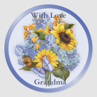 Summer Bouquet - Grandma Classic Round Sticker