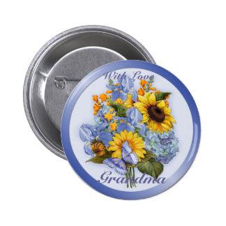 Summer Bouquet - Grandma Pinback Button