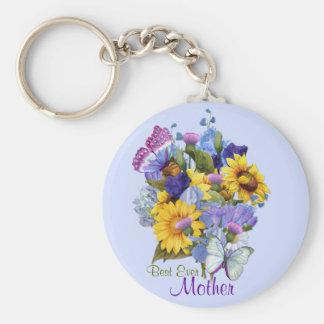 Summer Bouquet - Mom Keychain
