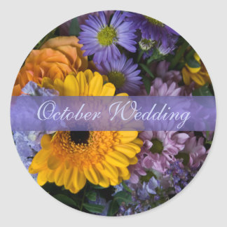 Summer Bouquet • October Wedding Sticker