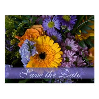 Summer Bouquet • Save the Date Postcard