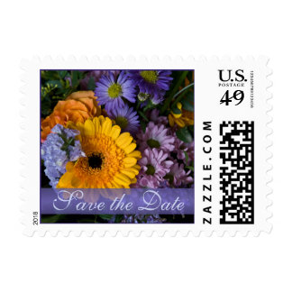"""Summer Bouquet • """"Save the Date"""" Stamp"""