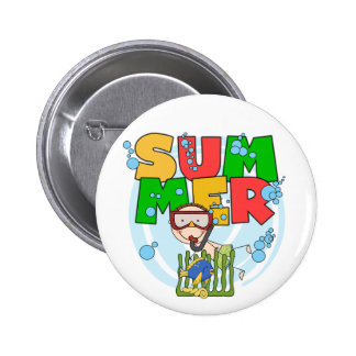 SUMMER - Boy Underwater T-shirts and Gifts Buttons