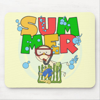 SUMMER - Boy Underwater T-shirts and Gifts Mouse Pad