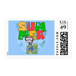 SUMMER - Boy Underwater T-shirts and Gifts Postage