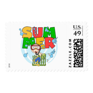 SUMMER - Boy Underwater T-shirts and Gifts Postage Stamp