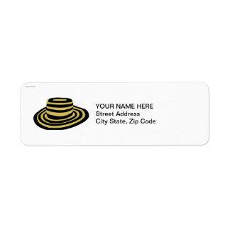 Summer Breach Striped Straw Hat Label
