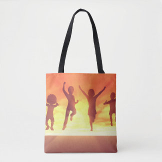 Summer Break School Holidays with Kids Celebrating Tote Bag