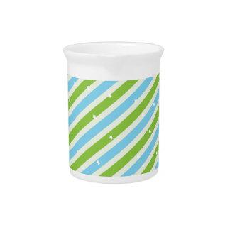 Summer breath stripe patterns pitcher