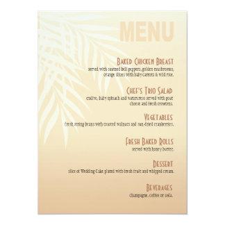 Summer Breeze Beach Dinner Menu | blush Card