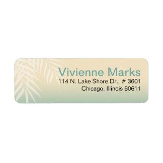 Summer Breeze Beach | mint blue Return Address Label