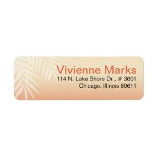 Summer Breeze Beach | peach Return Address Label