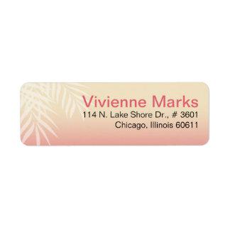 Summer Breeze Beach | pink Return Address Label