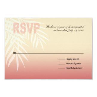Summer Breeze Beach RSVP   pink Card