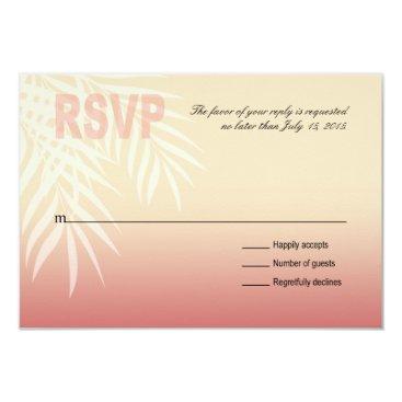 Beach Themed Summer Breeze Beach RSVP | pink Card