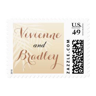 Summer Breeze Beach Wedding | blush Postage Stamp