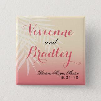 Summer Breeze Beach Wedding Guest | pink Pinback Button