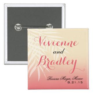 Summer Breeze Beach Wedding Guest   pink Pinback Button