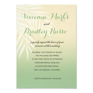 Summer Breeze Beach Wedding   jade 5x7 Paper Invitation Card