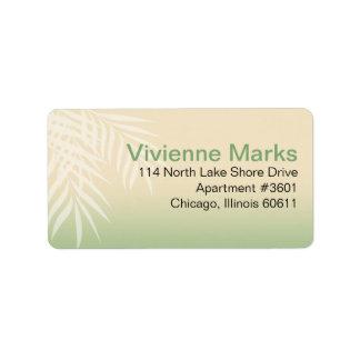 Summer Breeze Beach Wedding | jade Address Label