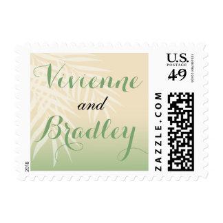 Summer Breeze Beach Wedding | jade Postage Stamp