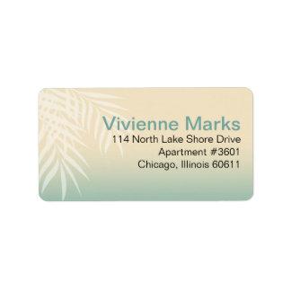 Summer Breeze Beach Wedding | mint blue Address Label